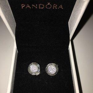 Pandora signature earrings